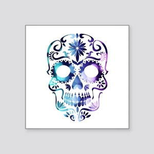 Blue & Purple Sugar Skull Sticker
