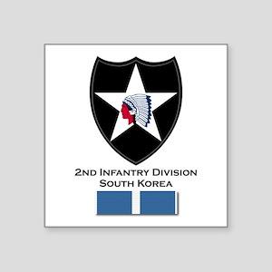 "2nd ID Korea Square Sticker 3"" x 3"""