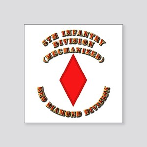 "Army - Division - 5th Infantry Square Sticker 3"" x"