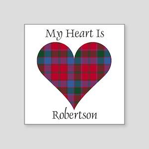 """Heart-Robertson Square Sticker 3"""" x 3"""""""