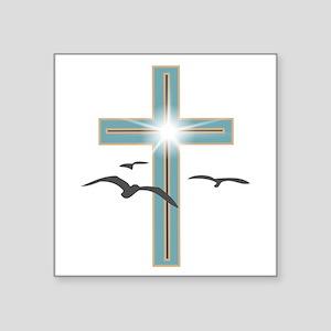 Glowing Cross 1 Sticker