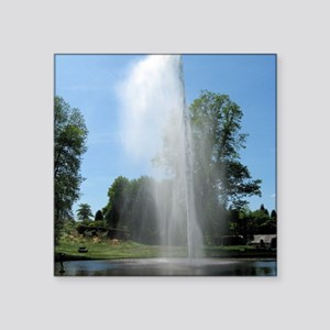 "Fountain at Forde Abbey, Do Square Sticker 3"" x 3"""