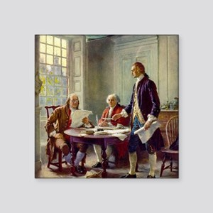 """Signing_of_Declaration_of_I Square Sticker 3"""" x 3"""""""