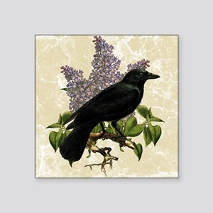 """lilac-and-crow_13-5x18 Square Sticker 3"""" x 3"""""""