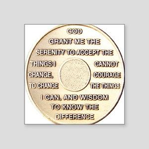 """COIN SERENITY Square Sticker 3"""" x 3"""""""
