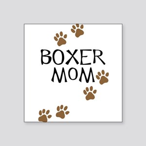 Boxer Mom Rectangle Sticker