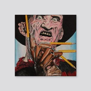 """Freddy and Pencils Square Sticker 3"""" x 3"""""""