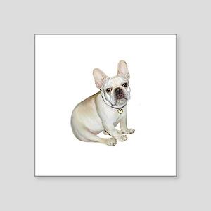 "French Bulldog (#2) Square Sticker 3"" x 3"""