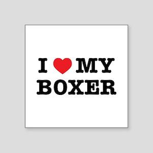 I Heart My Boxer Sticker