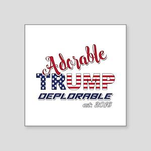 Adorable TRUMP Deplorable 2016 Sticker