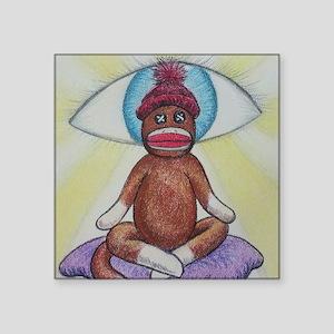 Yoga Sock Monkey Sticker
