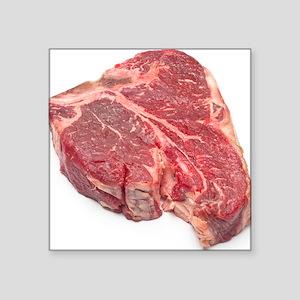 "Raw T-bone steak Square Sticker 3"" x 3"""