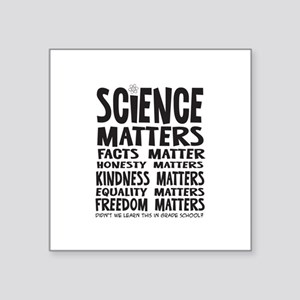 Science Matters Facts Matter Sticker