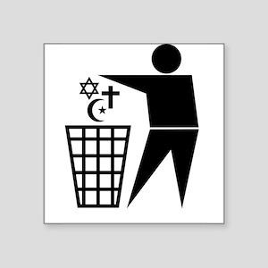 Trash Religion Rectangle Sticker