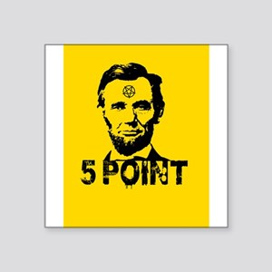 Abraham Lincoln 5 point star pentagram Sticker