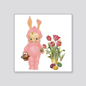"KEWPIE & TULIPS Square Sticker 3"" x 3"""