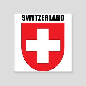 """Switzerland Square Sticker 3"""" x 3"""""""