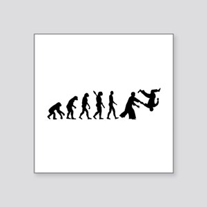 "Evolution Aikido Square Sticker 3"" x 3"""