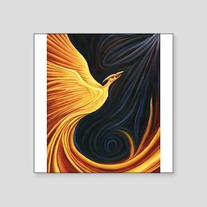 "Phoenix Rising Square Sticker 3"" x 3"""