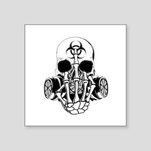 Biohazard Zombie Skull Fuck U Sticker