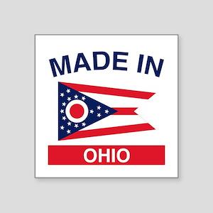 """Made in Ohio 1 Square Sticker 3"""" x 3"""""""