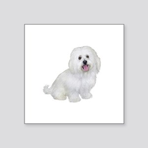 "Havanese (W1) Square Sticker 3"" x 3"""