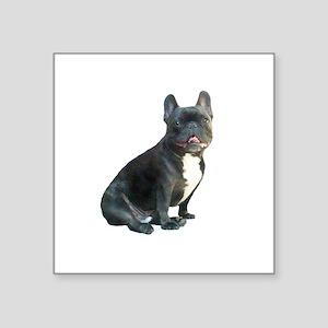 """French Bulldog (blk)1 Square Sticker 3"""" x 3"""""""