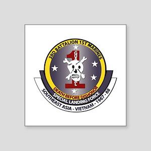 SSI - 3rd Battalion - 1st Marines USMC Square Stic