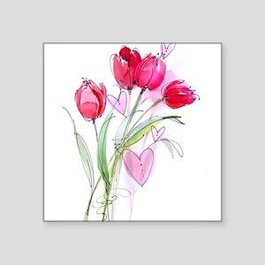 """Tulip2a Square Sticker 3"""" x 3"""""""