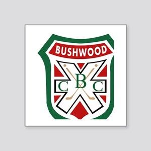 "Bushwood CC Crest Caddyshac Square Sticker 3"" x 3"""