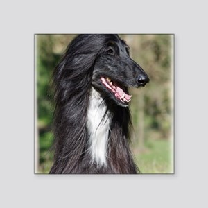 """Afghan Hound AA017D-101 Square Sticker 3"""" x 3"""""""
