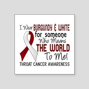 "Throat Cancer MeansWorldToM Square Sticker 3"" x 3"""