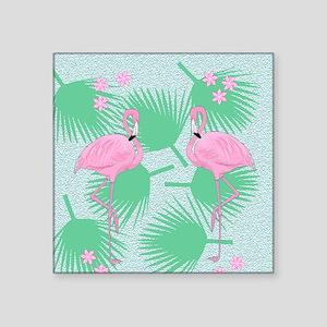 """flamingos Square Sticker 3"""" x 3"""""""
