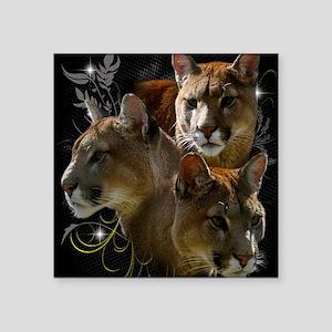 """Cougar Square Sticker 3"""" x 3"""""""