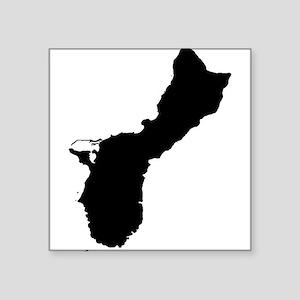 Guam Silhouette Sticker