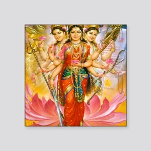 "Tridevi_Hindu_Three_Goddess Square Sticker 3"" x 3"""