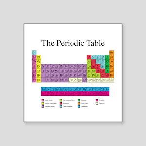"""Periodic Table Square Sticker 3"""" x 3"""""""