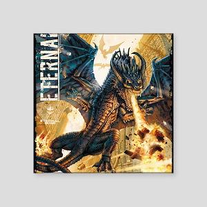 "Eternal Edge-Dragon Fire Square Sticker 3"" x 3"""