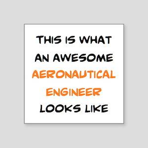 "awesome aeronautical Square Sticker 3"" x 3"""