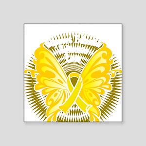 """Suicide-Prevention-Butterfl Square Sticker 3"""" x 3"""""""