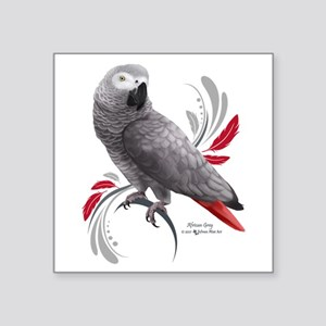 African Grey Parrot Sticker