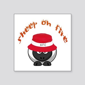 "Sheep On Fire Square Sticker 3"" X 3"""