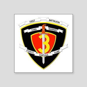 SSI - 1st Battalion - 3rd Marines Square Sticker 3