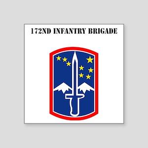 "SSI - 172nd Infantry Brigad Square Sticker 3"" x 3"""