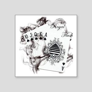 """SmokinRoyalFlush Square Sticker 3"""" x 3"""""""