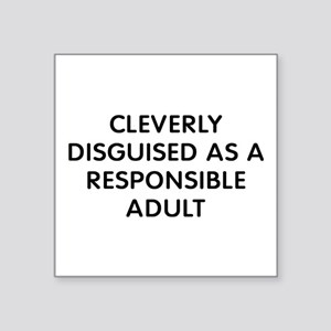 """Cleverly Adult Square Sticker 3"""" x 3"""""""
