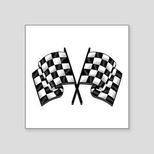 "Chequered Flag Square Sticker 3"" x 3"""