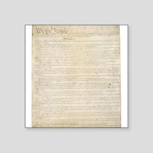 "The Us Constitution Square Sticker 3"" x 3"""