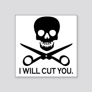 "Beauty Shop Pirate 1 Square Sticker 3"" x 3"""