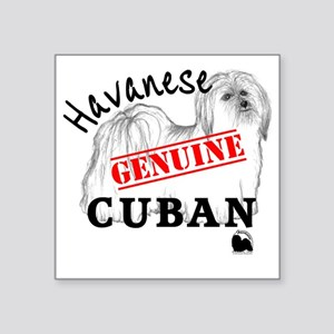 "GenuineCuban_with_HRIlogo Square Sticker 3"" x 3"""